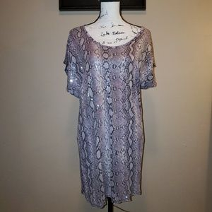 Michael Kors snakeskin tunic top